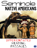 Seminole Native Americans Differentiated Reading Passages & Questions