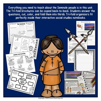 Native Americans - Seminole {Articles, Activities, Vocabulary, and Flip Book}