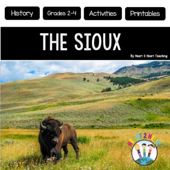 Native Americans - Sioux {Articles, Activities, Vocabulary, and Flip Book}