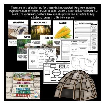 Native Americans - The Wampanoag Activities {Articles, Activities, & Flip Book}