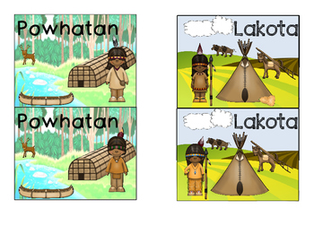 Native Americans Tribe Posters and Desk Tags