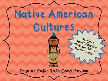 Native Americans True or False Task Cards