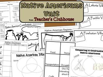 Native Americans Unit from Teacher's Clubhouse