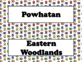 Native Americans Vocabulary Strips - Powhatan Lakota Pueblo - Owls BUNDLE