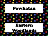 Native Americans Vocabulary Strips - Powhatan Lakota Pueblo - Superstars BUNDLE
