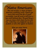 Native Americans Vocabulary / Word Wall Cards