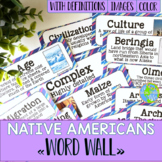 Native Americans Word Wall