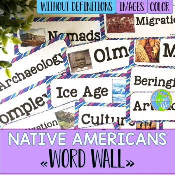 Native Americans Word Wall without definitions