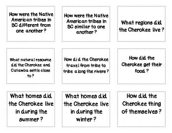 Native Americans and Explorers of SC Flash Cards
