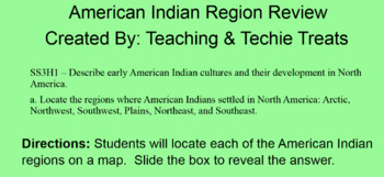 Native Americans and Their Regions Map Review