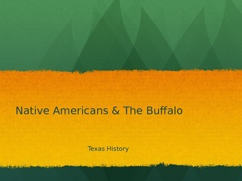 Native Americans and the Buffalo