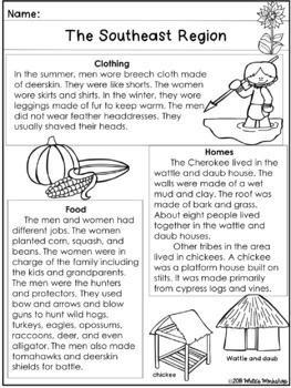 Native Americans: The Southeast Region (2nd & 3rd Grade)