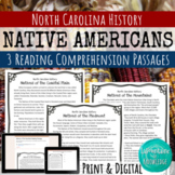 Native Americans of North Carolina Reading Comprehension - 3 Passages!