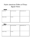 Native Americans of Texas Jigsaw - Student Notes