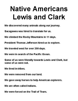 Native Americans vs. Lewis and Clark Sorting Activity