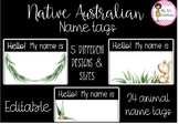 Native Australian Name Tags