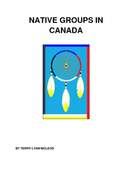 Native Groups in Canada Assignment