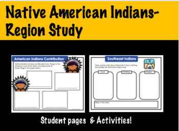 Early Settlers: Native American Indians Region Study