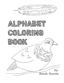 Native Inspired Alphabet Coloring Book