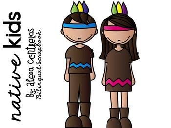 Native Kids Clip Art FREEBIE