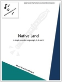 """Native Land"" Recorder Music with Fun Background Track"