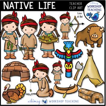 Native Life Clip Art - Whimsy Workshop Teaching