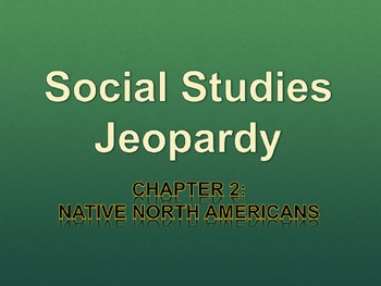 Native North Americans Jeopardy Powerpoint