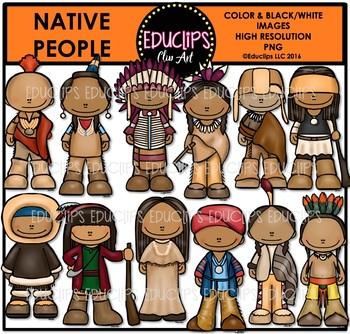 Native People Clip Art Bundle