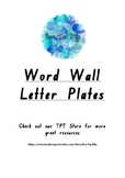 Native Plants Theme Word Wall