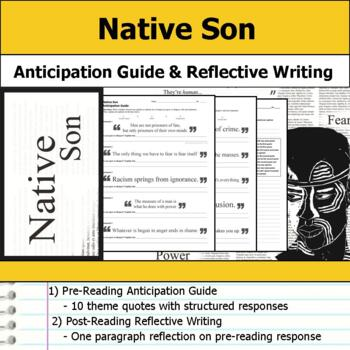 Native Son - Anticipation Guide & Reflection Writing