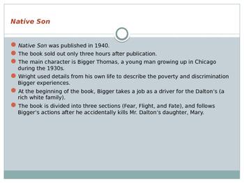 Native Son Background Info PowerPoint