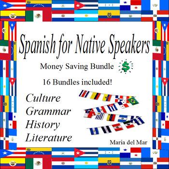 Curriculum Spanish for Native Speakers/Heritage Speakers