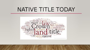 Native Title Today