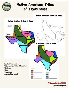 Native Tribes of Texas Maps