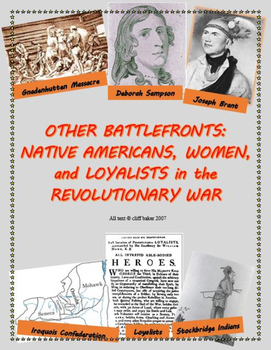 Native Americans, Women, and Loyalists in the Revolution - supplemental text