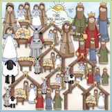 Nativity Clip Art - Jesus Is Born, Mary & Joseph, 3 Wise M