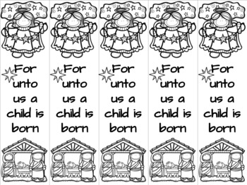 Nativity 2 bookmark
