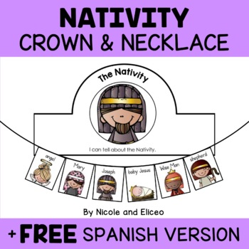 Nativity Christmas Crown Craft