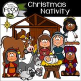 Christmas Nativity Friends Clip Art