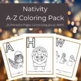 Nativity A-Z Coloring Pack