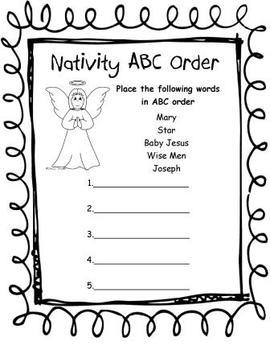 Nativity Activity Packet