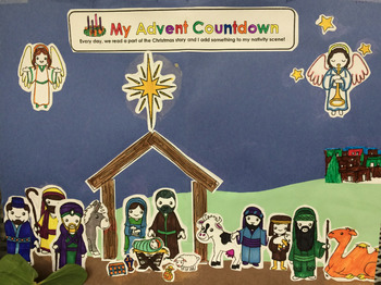 Nativity Advent Calendar By Michelle Takats Teachers Pay Teachers