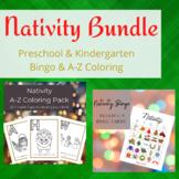 Nativity Bundle: Christmas Bingo and A-Z Coloring Pages-Pr