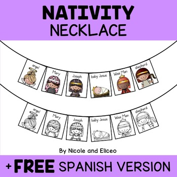 Nativity Christmas Activity Necklace Craft