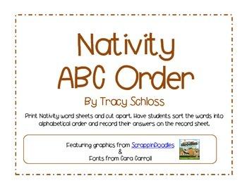Nativity, Christmas, Advent, ABC order