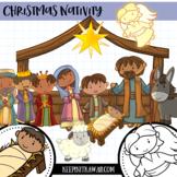 Nativity Christmas Clip Art - Winter Wonderland Series