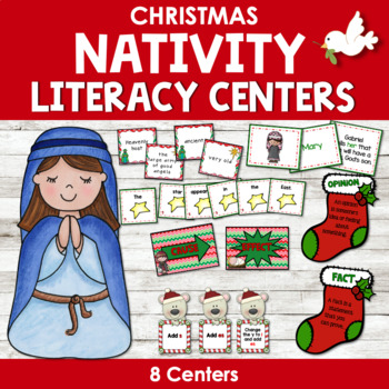 Christmas Nativity Literacy Centers