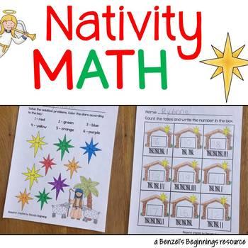 Nativity Christmas Math!