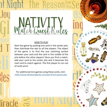 Nativity Christmas Spot It Game