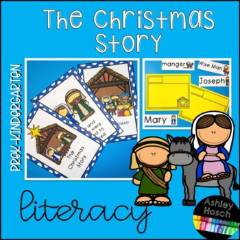 Nativity Christmas Story Thematic Literacy Activities for Preschool-Kindergarten